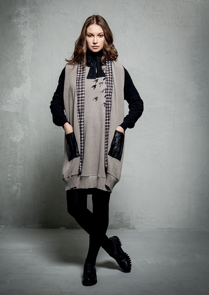 ABITO/DRESS <strong>E131</strong><br> CARDIGAN <strong>E130</strong><br> DOLCEVITA/TURTLENECK <strong>E801</strong>