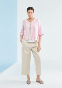 GIACCHINA/JACKET <strong>P145</strong><br> CANOTTA/TOP <strong>P159</strong><br> PANTALONE/PANTS <strong>P136</strong>