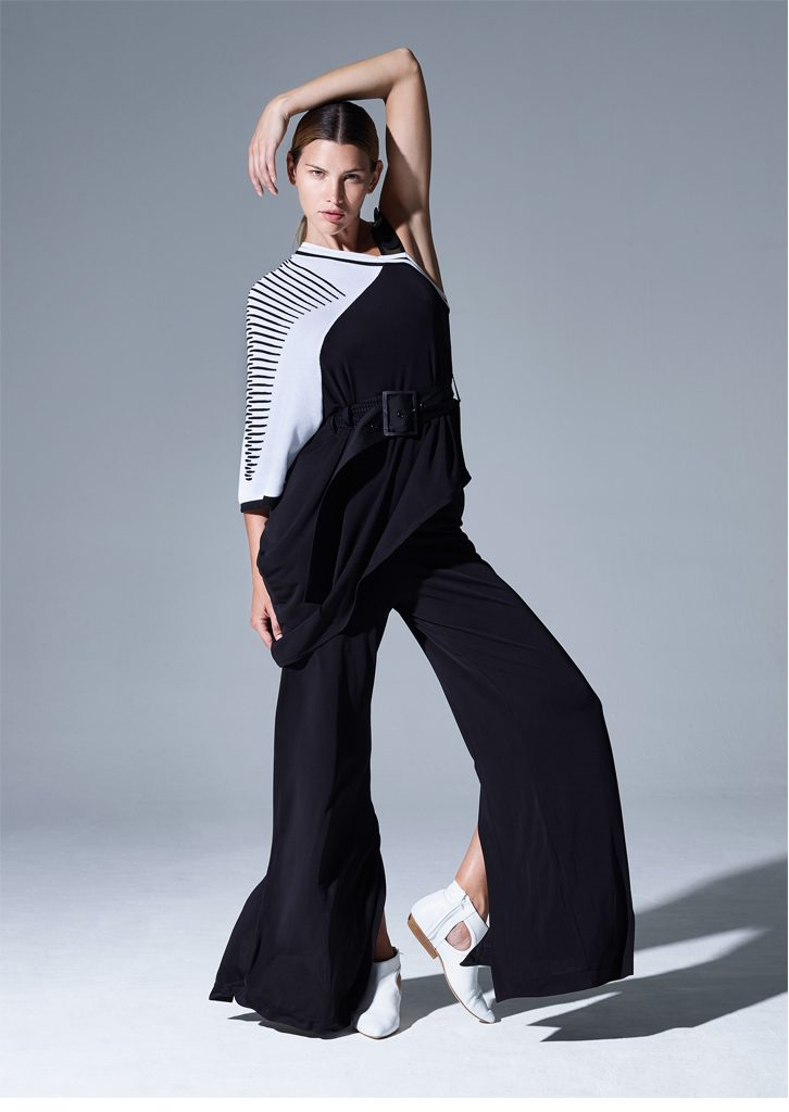 CAMICETTA/SWEATER <strong>P726</strong><br> PANTALONE/PANTS <strong>P716</strong><br> CINTURA/BELT <strong>P738</strong>