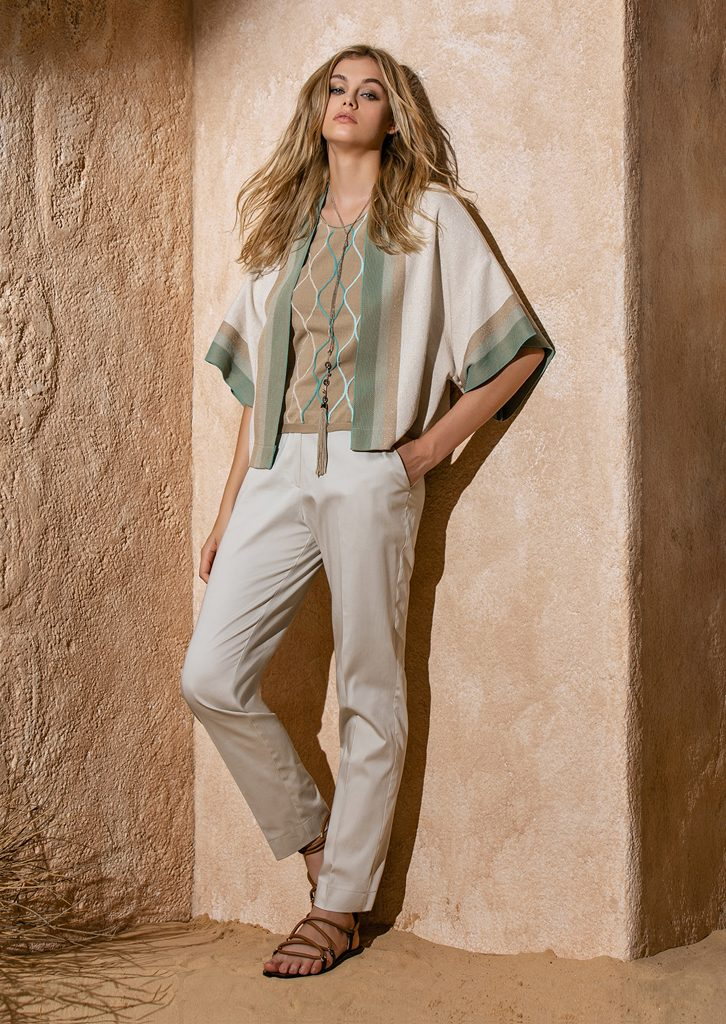 CARDIGAN/CARDIGAN <strong>S1121</strong><br> CANOTTA/TOP <strong>S1177</strong><br> PANTALONE/PANTS <strong>S1131</strong><br> COLLANA/NECKLACE <strong>S1198</strong>