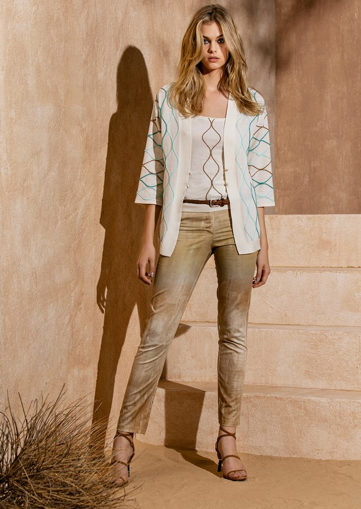 CARDIGAN/CARDIGAN <strong>S1180</strong><br> CANOTTA/TOP <strong>S1182</strong><br> PANTALONE/PANTS <strong>S1193</strong><br> CINTURA/BELT <strong>S1171</strong>