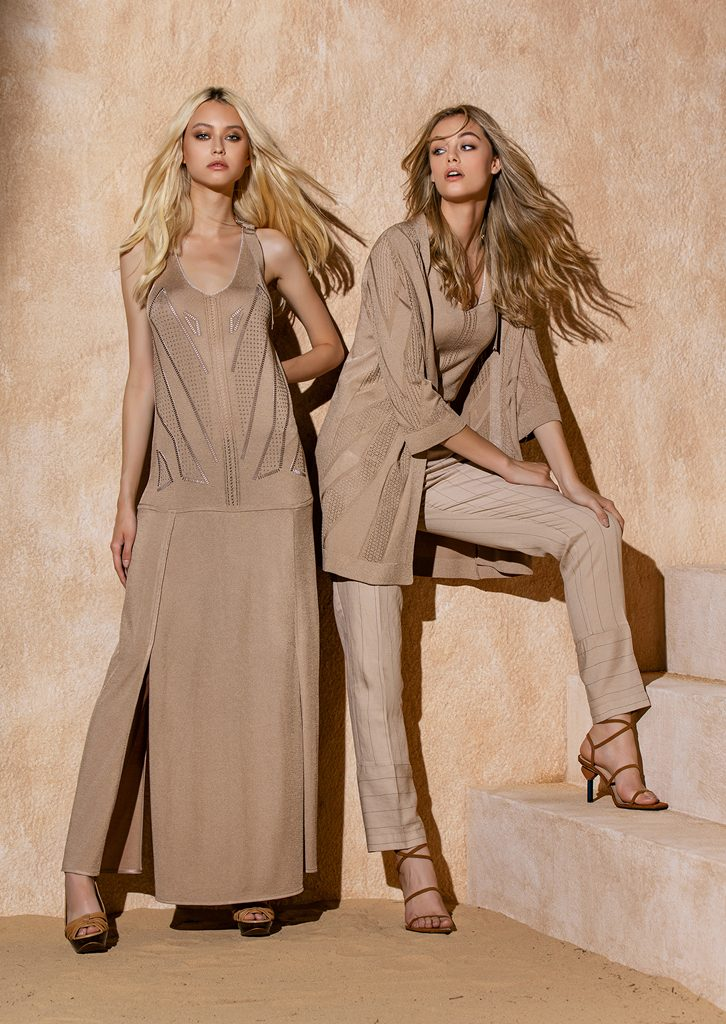 ABITO/DRESS <strong>S1228</strong><br> CARDIGAN/CARDIGAN <strong>S1225</strong><br> CANOTTA/TOP <strong>S1227</strong><br> PANTALONE/PANTS <strong>S1246</strong>