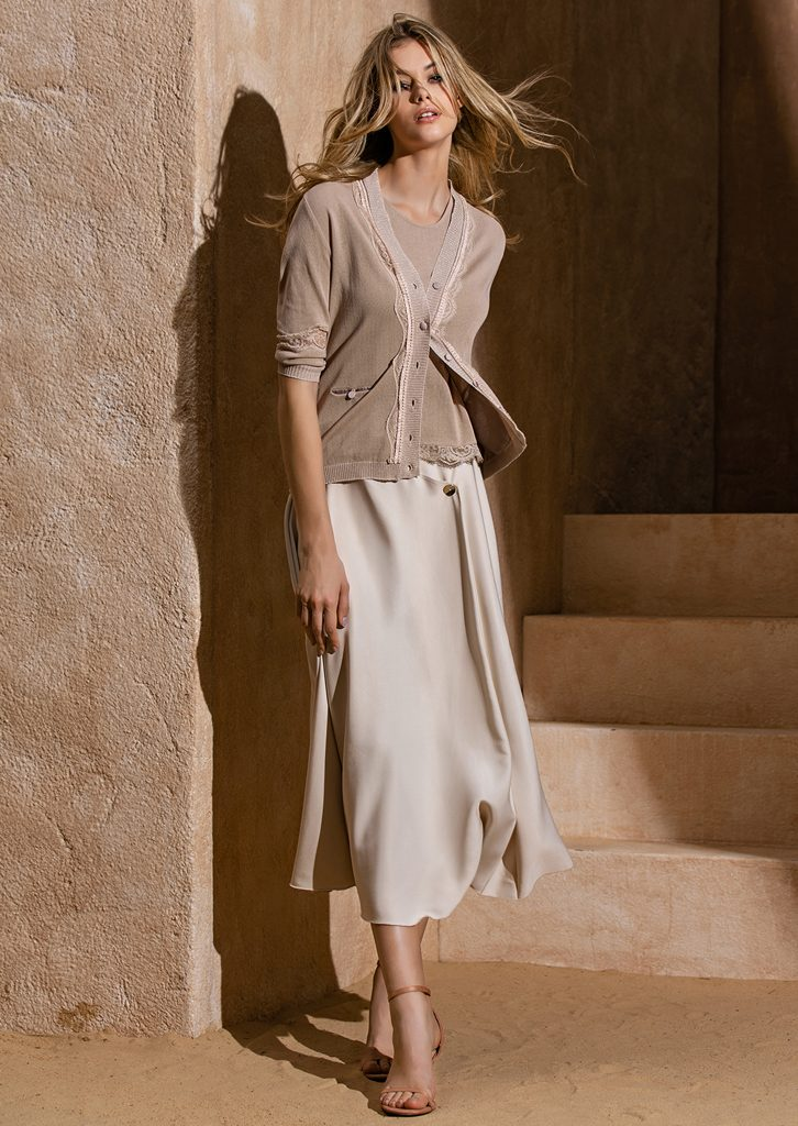 CARDIGAN/CARDIGAN <strong>S1217</strong><br> CANOTTA/TOP <strong>S1218</strong><br> GONNA/SKIRT <strong>S1188</strong>