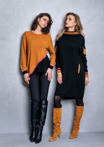 MAGLIA/SWEATER <strong>T622</strong><br> PANTALONE/PANTS <strong>T649</strong><br> ABITO/DRESS <strong>T627</strong>