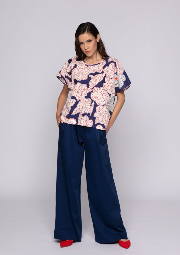 Camicetta/blouse <strong>U087</strong><br> pantalone/pants <strong>U730</strong>