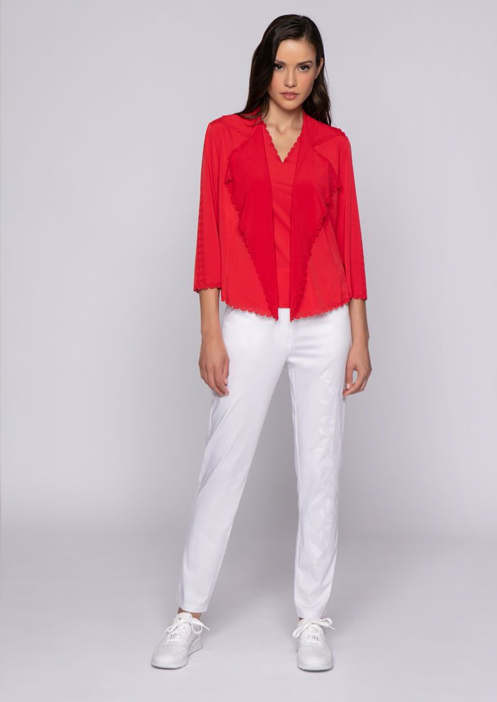GIACCA/JACKET <strong>U831</strong><br> CANOTTA/TOP <strong>U544</strong><br> PANTALONE/PANTS <strong>U827</strong>
